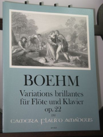 Boehm T - Variations Brillantes Op 22 for Flute & Piano